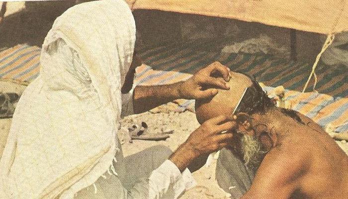 Pilgrim shaving hair 1953
