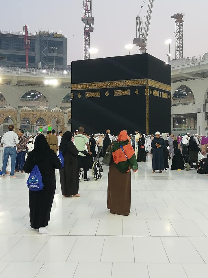 Female Family Group walk in Masjid Haram to Perform Umrah